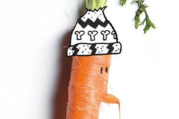 Wintergroenten Muts Illustratie
