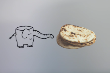Naan broodje olifant illustratie