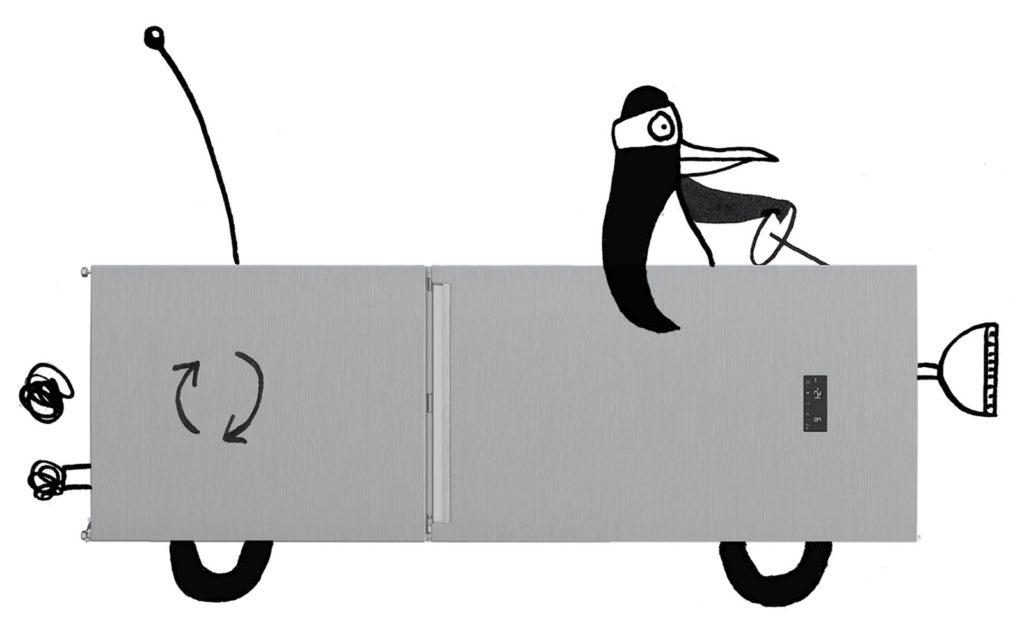 afgedankte-koelkast-auto-illustratie