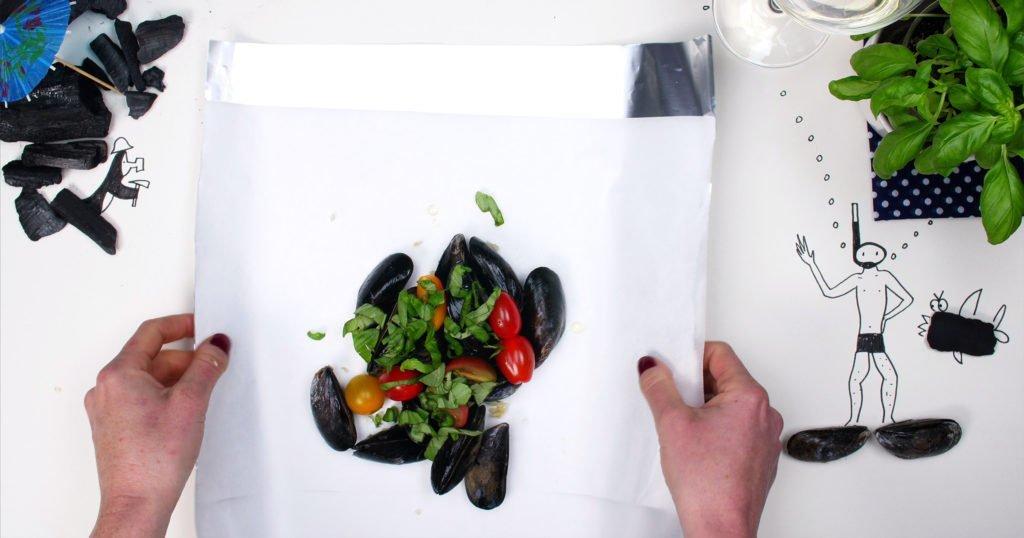 mosselen-bbq-papillot-recept-aluminiumfolie