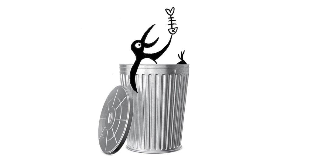 voedselverspilling-vuilbak-pinguin-illustratie